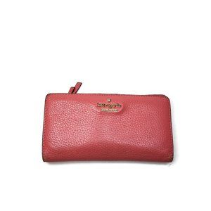 Kate Spade Hot Pink Leather Foldover Snap Wallet